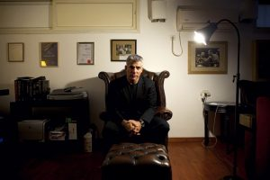 Yair Lapid, popular former TV anchorman and head of the new centrist party Yesh Atid, poses for a portrait at his house during an interview for the Associated Press, in Tel Aviv, Israel, Wednesday, June. 16, 2013. Lapid predicted he will one day become prime minister and said he would fight for a more moderate policy towards the Palestinians. Oded Balilty—AP
